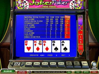 Video Poker Joker Poker